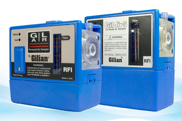 Gilian GilAir-3 and GilAir-5 Air Sampling Pumps (1 - 3,000 / 1 - 5,000 cc/min)