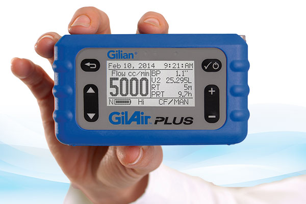 GilAir Plus Personal Air Sampling Pump (1 - 5,100 cc/min)